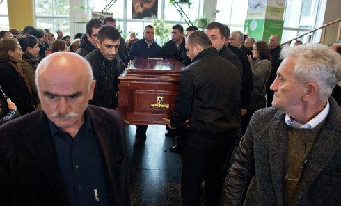 Церемония прощания с экс-министром экономики Грузии К. Бендукидзе в Тбилиси