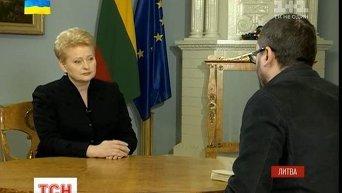 Президент Литвы Даля Грибаускайте. Видео