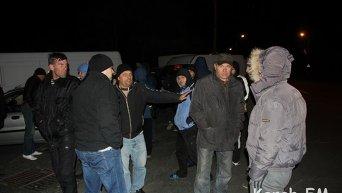 Бунт дальнобойщиков на переправе в Керчи