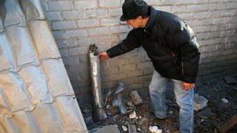 Последствия артобстрела Донецка