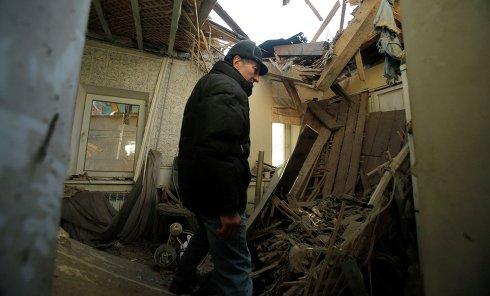 Последствия артобстрела Донецка. Архивное фото