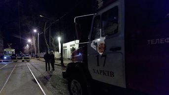 Взрыв возле военного госпиталя в Харькове