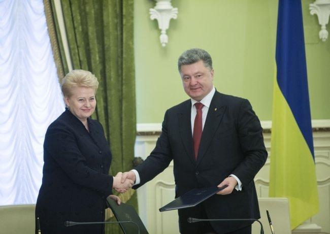 Петр Порошенко и Даля Грибаускайте в Киеве