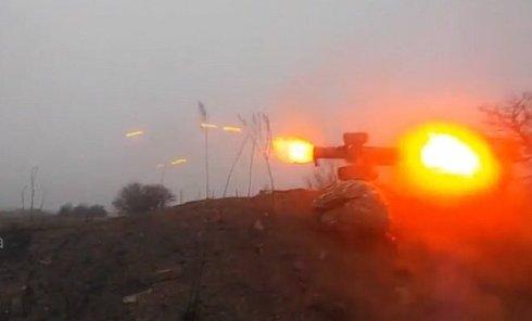 Выстрел из ПТУР в Донбассе