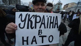 Участник митинга в Киеве. Архивное фото