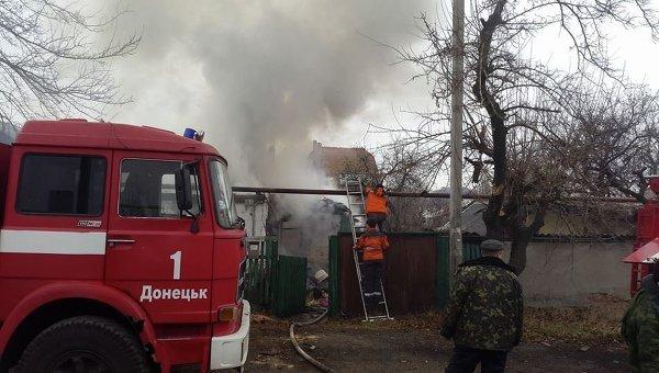 Один из районов Донецка обстрелян ракетами Град