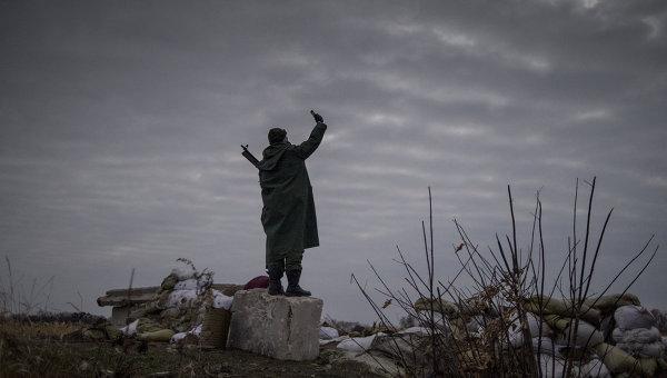 Ополченцы ЛНР в Луганской области