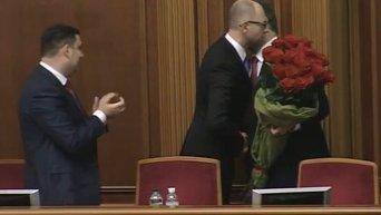 Рада поддержала назначение Яценюка премьер-министром. Видео