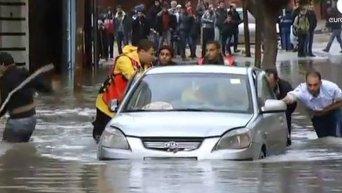 Сильное наводнение в секторе Газа. Видео