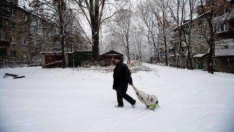 Зима в Украине. Архивное фото