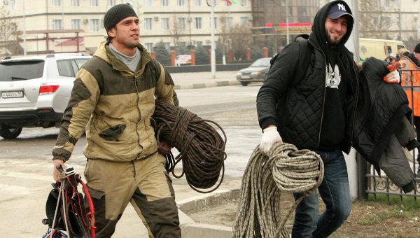 Cпецоперация в Доме печати в Грозном
