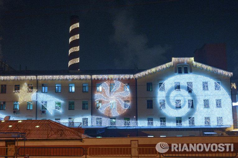 Иллюминация кондитерской фабрики Roshen