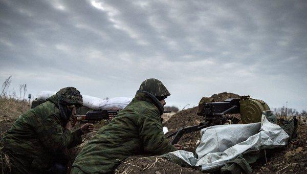 Бойцы ополчения на Донбассе
