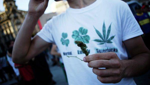 Марш в поддержку легализации марихуаны в Буэнос-Айресе