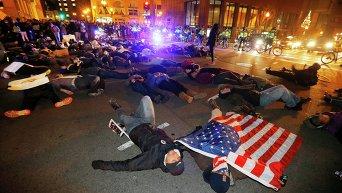Протесты в Бостоне (США)