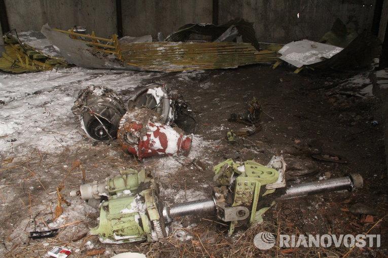 Обломки Boeing, оставшиеся на месте крушения