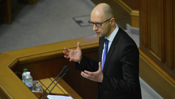 Арсений Яценюк на заседании Верховной Рады, 11 декабря 2014.
