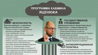 Программа Кабмина Яценюка. Инфографика