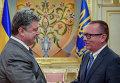 Встреча Петра Порошенко с замгенсека ООН Джеффри Фелтманом. Архивное фото