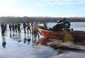 Рыбаки на Днепре в Черкасской области