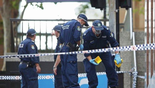 Полиция Австралии на месте преступления. Архивное фото