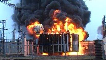 Тушение пожара подстанции под Полтавой