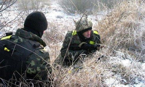 Занятия по восстановлению боеспособности подразделений высокомобильных десантных войск ВСУ. Архивное фото
