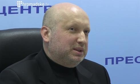 Секретарь СНБО Александр Турчинов на брифинге