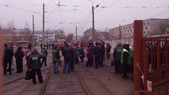 Забастовка транспортников в Киеве