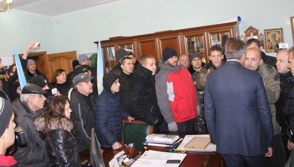 Захват протестующими офиса Метинвест в Кривом Роге