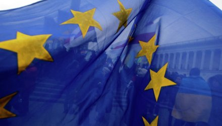 Флаг ЕС в Киеве. Архивное фото