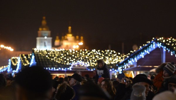 В Киеве на Софийской площади