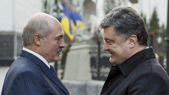 Переговоры президента Украины Петра Порошенко и президента Республики Беларусь Александра Лукашенко, в Киеве