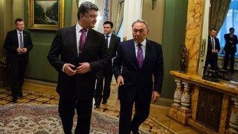 Петр Порошенко и Нурсултан Назарбаев
