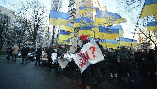 Митинг под Генеральной прокуратурой Украины