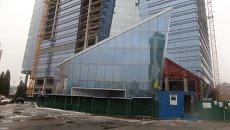Строящийся офисный центр в Киеве