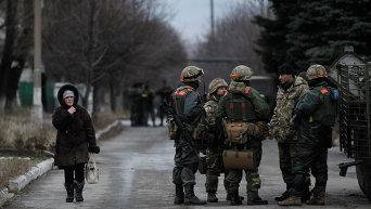 ВСУ патрулируют Дебальцево во время перемирия