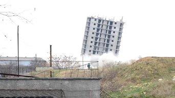 Неудачный снос многоэтажки в Севастополе