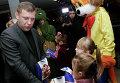 Захарченко посетил новогодний детский праздник в Енакиево