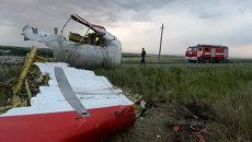 На месте крушения малайзийского Boeing 777 в Донецкой области. Архивное фото