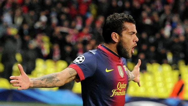 Игрок ФК Барселона Дани Алвес