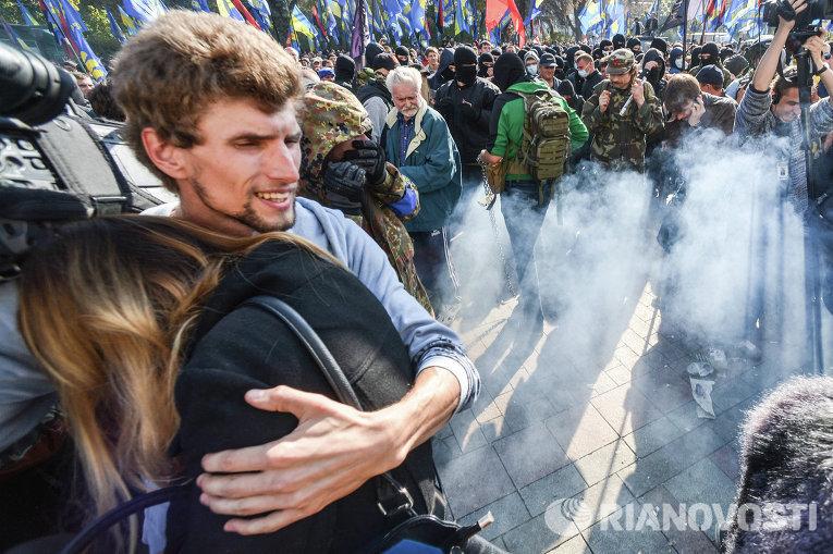 Беспорядки под ВР 14 октября