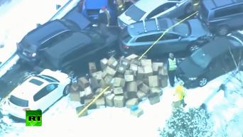 В США из-за снегопада столкнулись 35 автомобилей