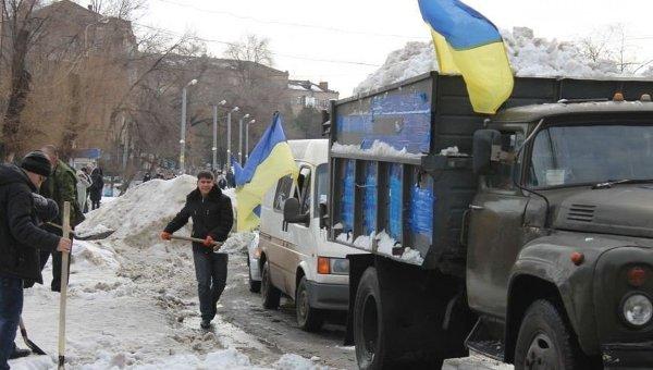 Снежный протест в Кривом Роге