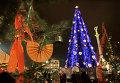 Новогодняя елка на Майдане Незалежности. Декабрь, 2004 г