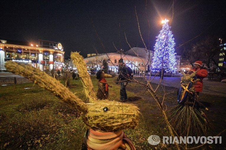 Новогодняя елка в Киеве на Подоле. 2014 - 2015 гг