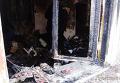 На месте пожара в одесском банке
