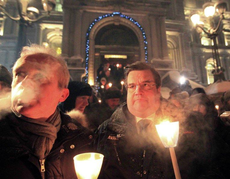 Акция памяти жертв теракта в Париже