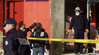 Место взрыва в ресторане у французской мечети