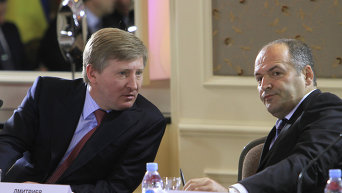 Украинские бизнесмены Ринат Ахметов и Виктор Пинчук